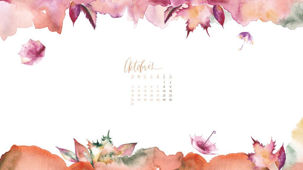 Manilla wallpaper october desktop - calendar