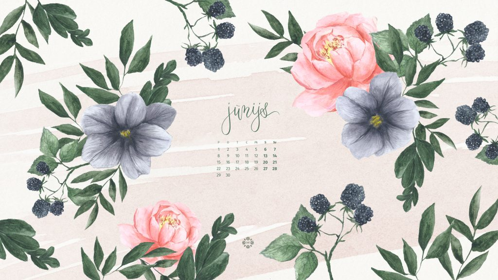 Jūnijs 2020 lejupielādējams kalendārs no Manilla