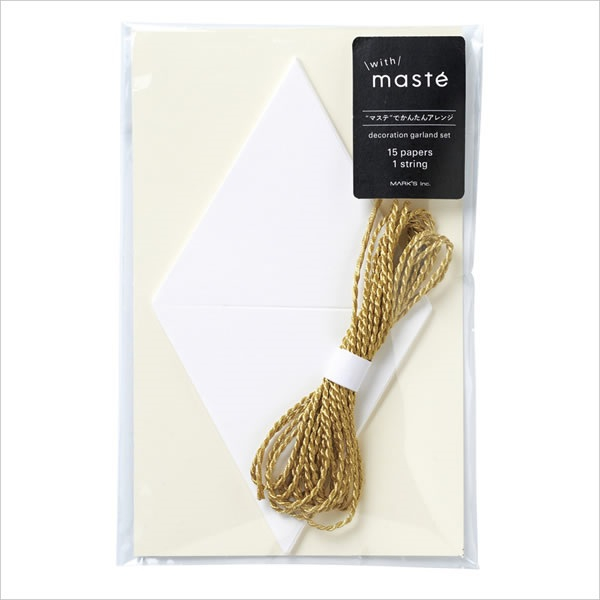 Papīra virtene ar zelta diegu, Maste