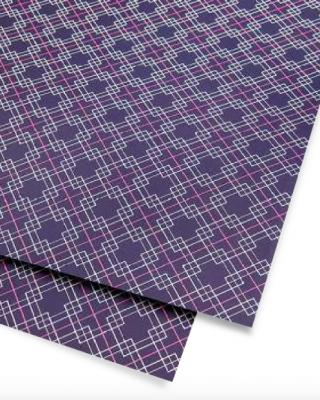Dāvanu ietinamais papīrs Violeti kvadrāti