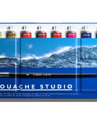 Guaša krāsu komplekts metāla kastē, 12 gab.