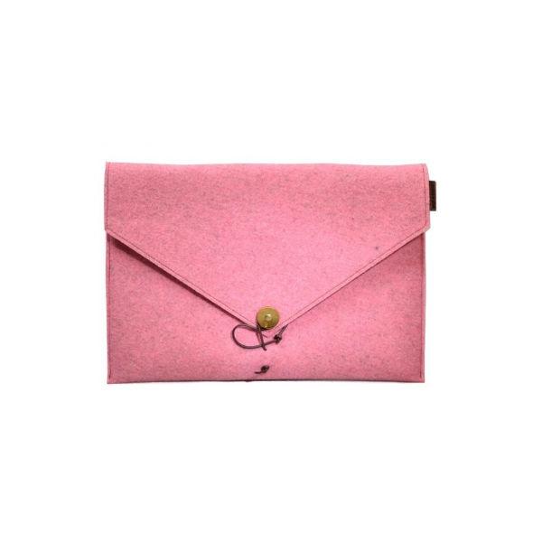 Datora mape Kungssten, rozā, filca, 13 collas