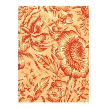 Dāvanu ietinamais papīrs Oranži ziedi