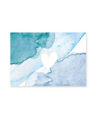 Kartīte Sirds, akvarelis
