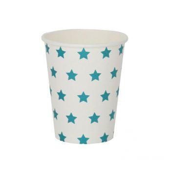 Papīra krūzītes, zilas zvaignes