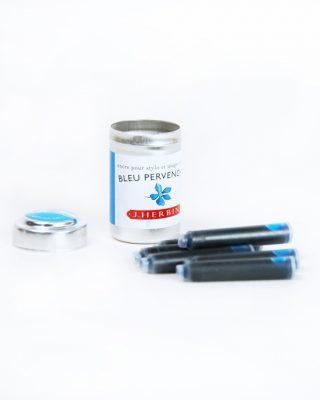 6 Tintes kodoliņi gaiši zils /bleu per, Herbin