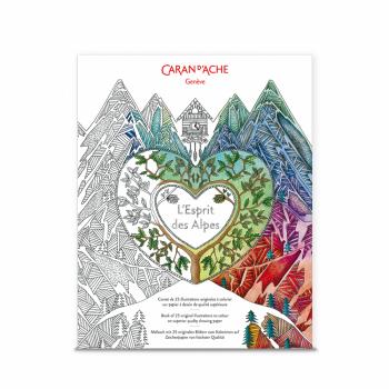 Krāsojamā grāmata L`Esprit des Alpes