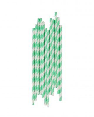 Papīra salmiņi, 25 gab., gaiši zaļi