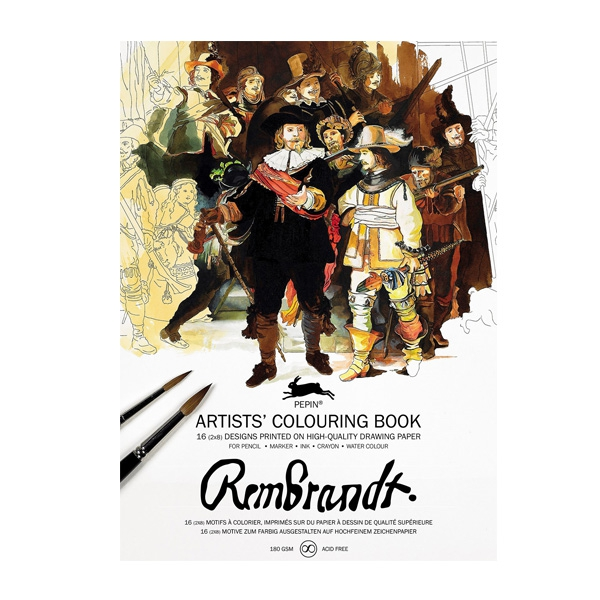 Colouring book Rembrandt Paintings
