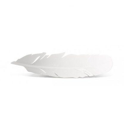 Grāmatzīme Spalva, nerūsējoša tērauda, balta