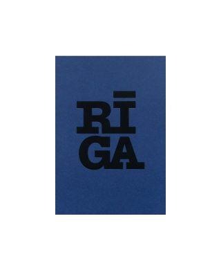 Pastkarte RĪGA, zila
