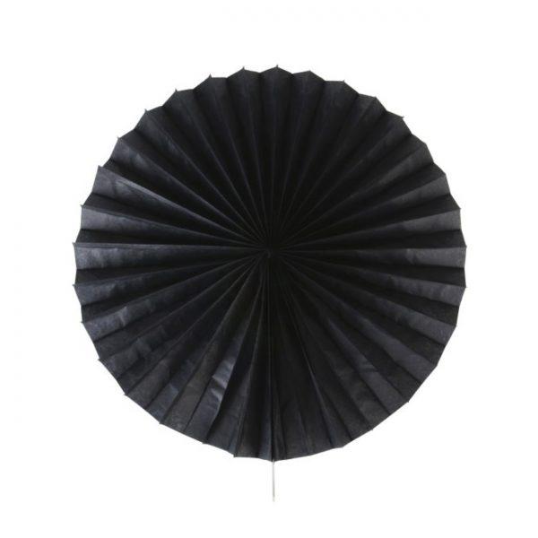 Papīra puķe – vēdeklis, melns, 50 cm