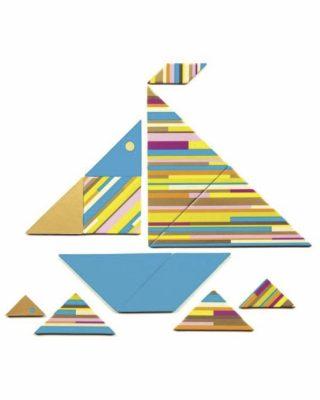 Spēle Tangram Duo, Polychrome