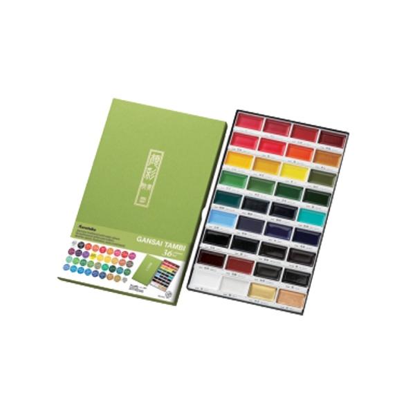 Akvareļu krāsu komplekts GANSAI TAMBI, 36 gab.