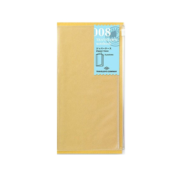 Midori Travelers Notebook Clear Zipper Pocket 008