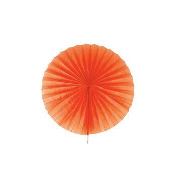 Papīra puķe - vēdeklis, oranžs, 25 cm