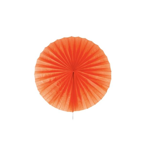Papīra puķe – vēdeklis, oranžs, 25 cm