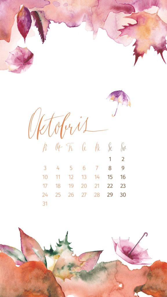 Manilla wallpaper october-phone-calendar