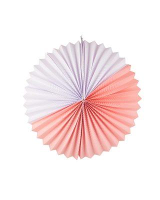 Papīra bumba, balta un maigi rozā