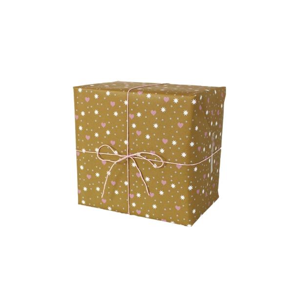 Dāvanu ietinamais papīrs Hearts, Dots, Stars, loksne