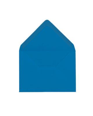 C6 izmēra aploksne, koši zila, ar trijstūra veida aizdari