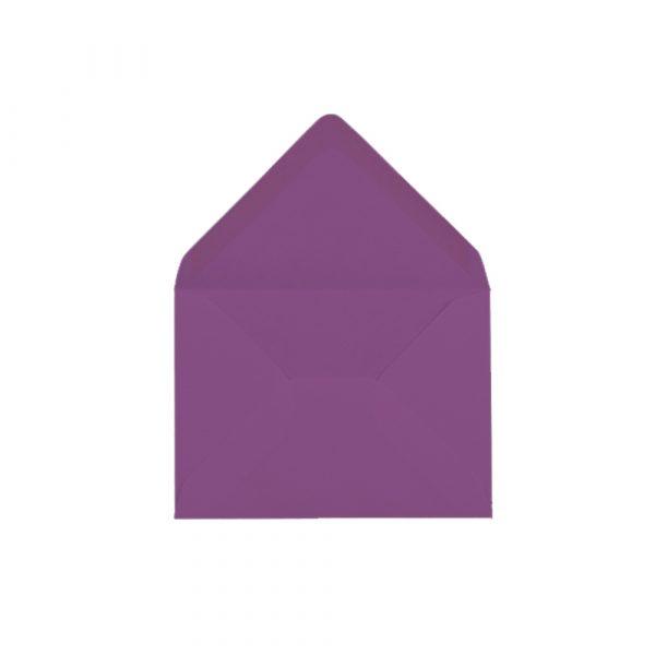 C6 izmēra aploksne, violeta, ar trijstūra veida aizdari