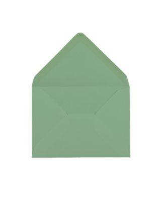 C6 izmēra aploksne, piparmētru zaļa, ar trijstūra veida aizdari