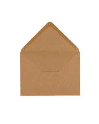 C6 izmēra aploksne, krafta brūna, ar trijstūra veida aizdari
