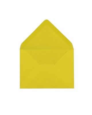 C6 izmēra aploksne, dzeltena, ar trijstūra veida aizdari