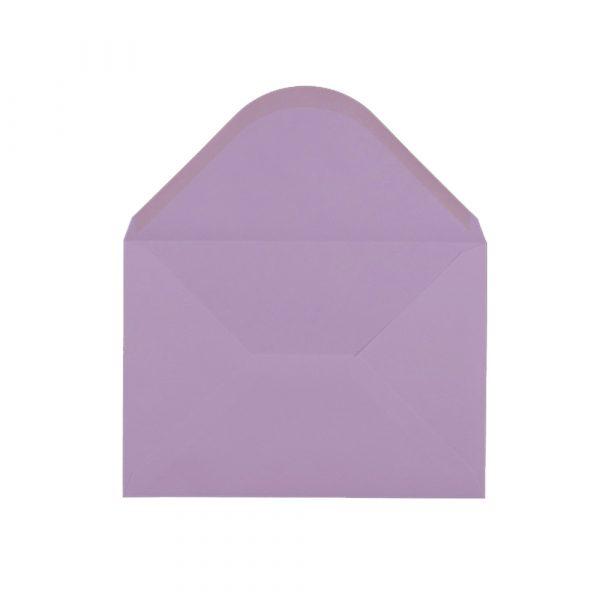 C5 izmēra aploksne, pasteļu violeta, ar ieapaļu aizdari