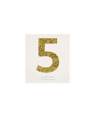 Uzlīme Cipars 5, zelta krāsā