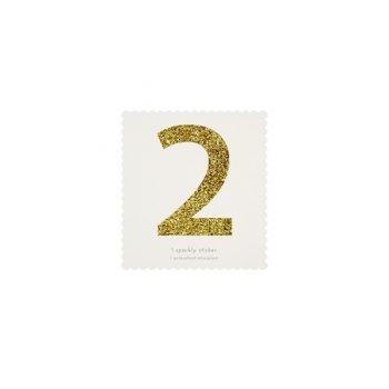 Uzlīme Cipars 2, zelta krāsā
