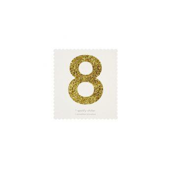 Uzlīme Cipars 8, zelta krāsā
