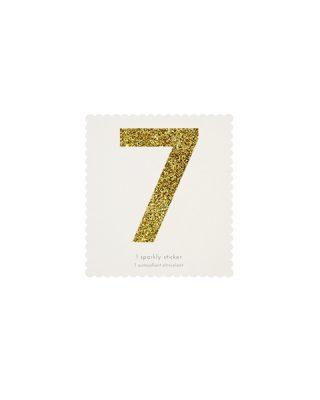 Uzlīme Cipars 7, zelta krāsā