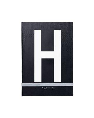 Piezīmju grāmata Typography: H