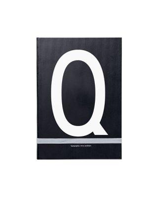 Piezīmju grāmata Typography: Q