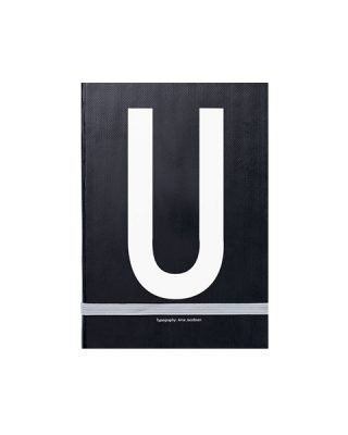 Piezīmju grāmata Typography: U