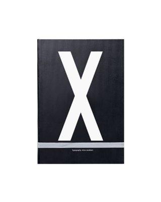 Piezīmju grāmata Typography: X