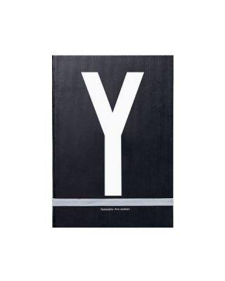 Piezīmju grāmata Typography: Y