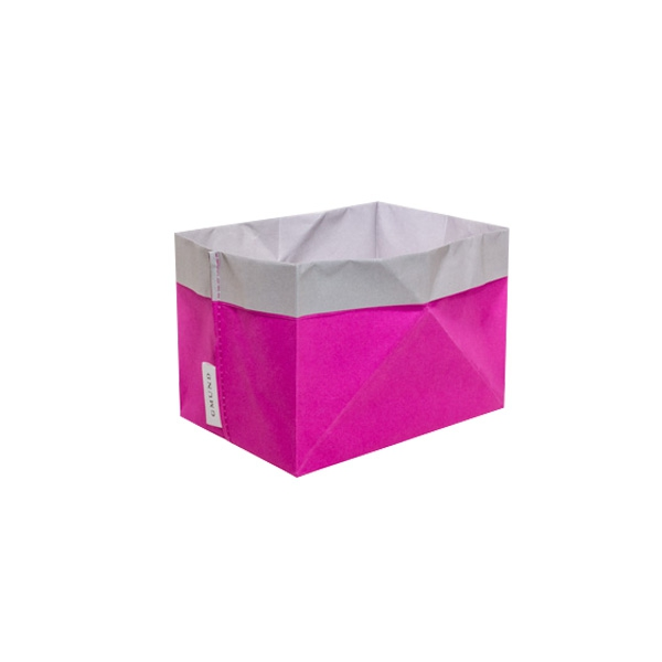 Papīra tūta - groziņš Crashed bag, rozā un pelēks