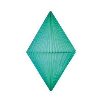 Papīra dekorācija Dimants, Mint, 38 cm
