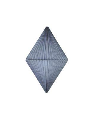 Papīra dekorācija Dimants, Grey, 25 cm