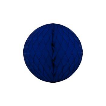 Papīra dekorācija Šūnu bumba, Navy Blue, 30 cm