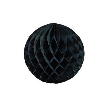 Papīra dekorācija Šūnu bumba, Black, 30 cm