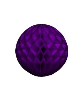 Papīra dekorācija Šūnu bumba, Purple, 20 cm