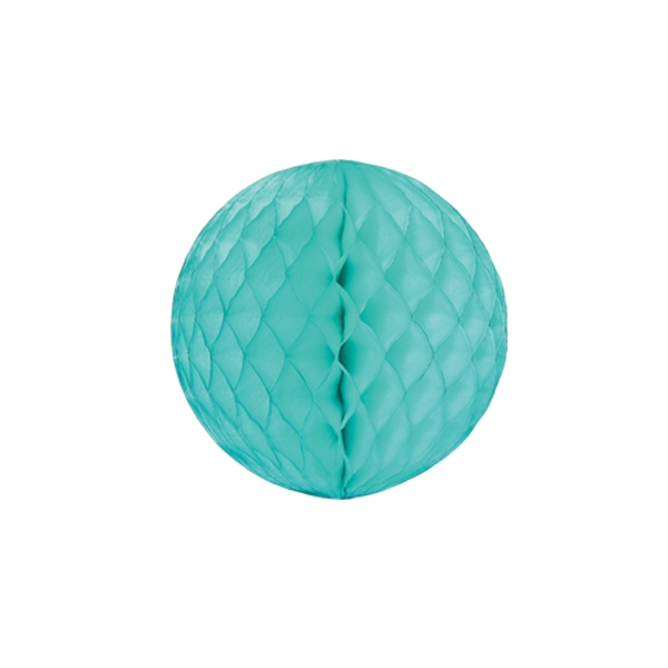 Papīra dekorācija Šūnu bumba, Mint, 20 cm