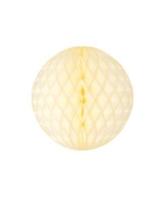 Papīra dekorācija Šūnu bumba, Ivory, 20 cm