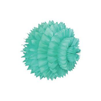 Papīra dekorācija Šūnu bumba ar faktūru, Mint, 33 cm