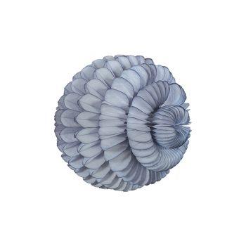 Papīra dekorācija Šūnu bumba Zieds, Grey, 30 cm