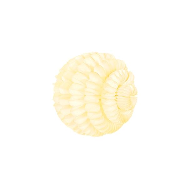 Papīra dekorācija Šūnu bumba Zieds, Ivory, 21 cm
